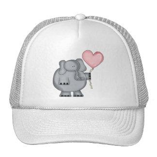 Elephant with Heart Balloon Mesh Hat