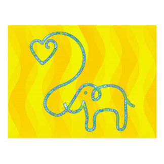 ELEPHANT with heart Postcard