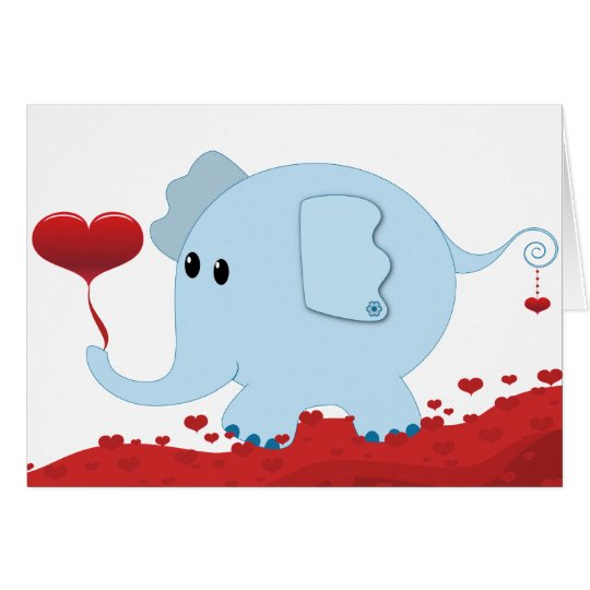 Elephant with hearts-01 card
