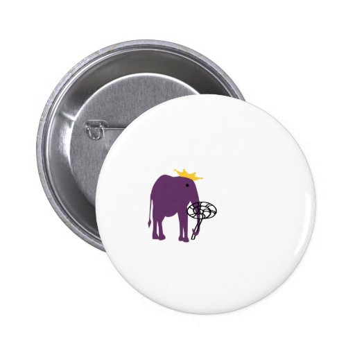Elephant With Lollipop Pinback Buttons
