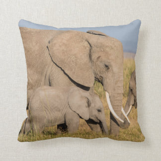 Elephant with Young Cushion