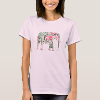 Elephant words cloud T-Shirt