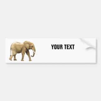"Elephant Your Text ""Folio Condensec"" on White Bumper Sticker"