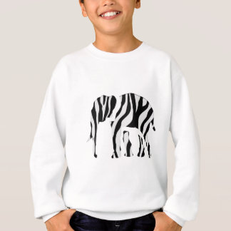 Elephant Zebra: Wild Mash-Up Sweatshirt
