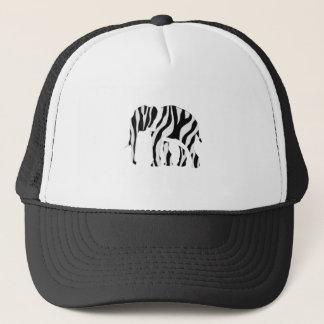 Elephant Zebra: Wild Mash-Up Trucker Hat
