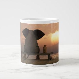 ElephantDog Friends 20 Oz Large Ceramic Coffee Mug Jumbo Mug