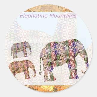Elephantine Mountain Round Sticker
