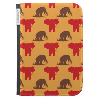 Elephants African Pattern Kindle 3G Covers