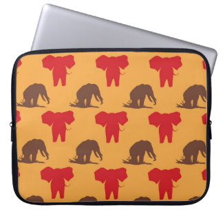 Elephants African Pattern Computer Sleeve