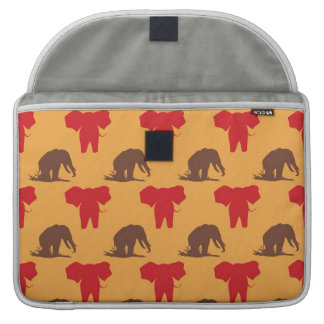 Elephants African Pattern Sleeve For MacBooks