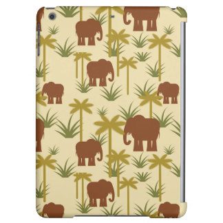 Elephants And Palms In Camouflage
