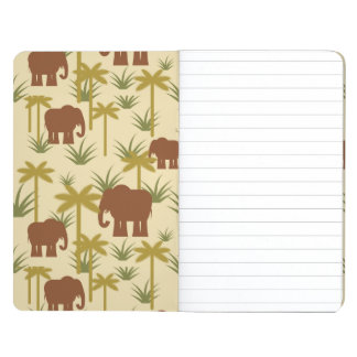 Elephants And Palms In Camouflage Journal