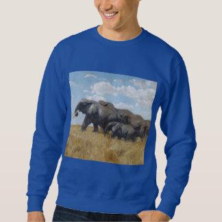 elephants animals Africa safari Sweatshirt