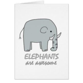 Elephants are Awesome Card