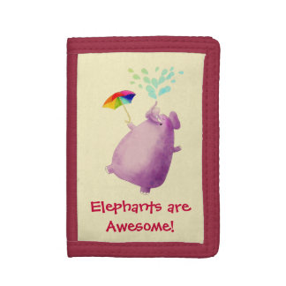 Elephants are Awesome Trifold Wallet