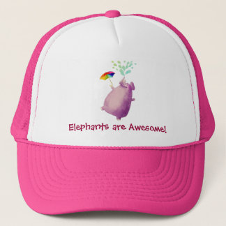 Elephants are Awesome Trucker Hat