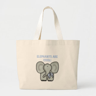 Elephants Are Cool Large Tote Bag