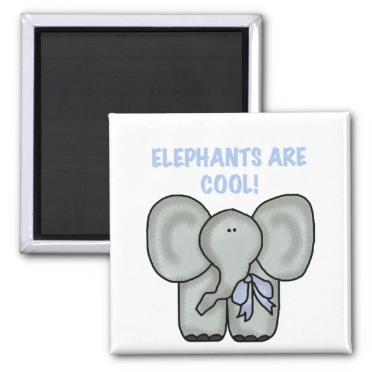 Elephants Are Cool Tshirts and Gifts Square Magnet
