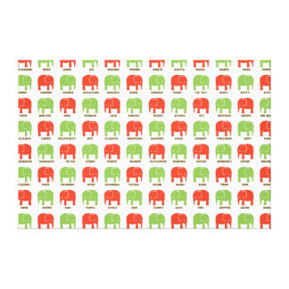 elephants are your best friends CHRISTMAS TOTE Canvas Prints