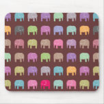 Elephants are your best friends Mouse Pad - brown