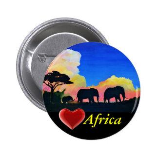 Elephants At Dusk 6 Cm Round Badge