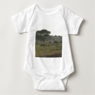 Elephants Babygrow, African Safari Collection Baby Bodysuit