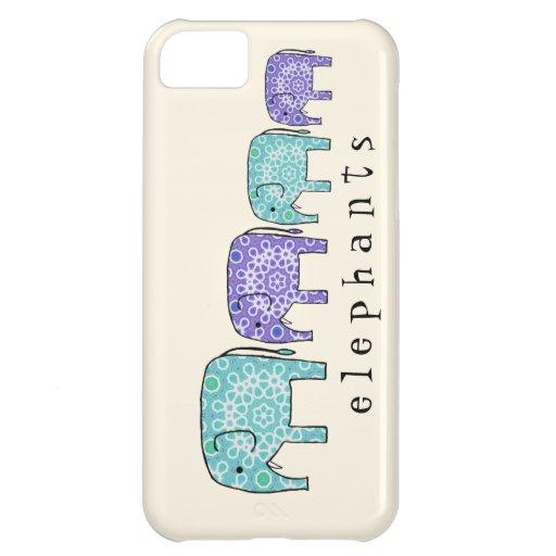Elephants iPhone 5C Cases