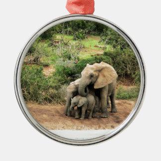 Elephants Christmas Ornament