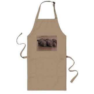 elephants crossing a river long apron