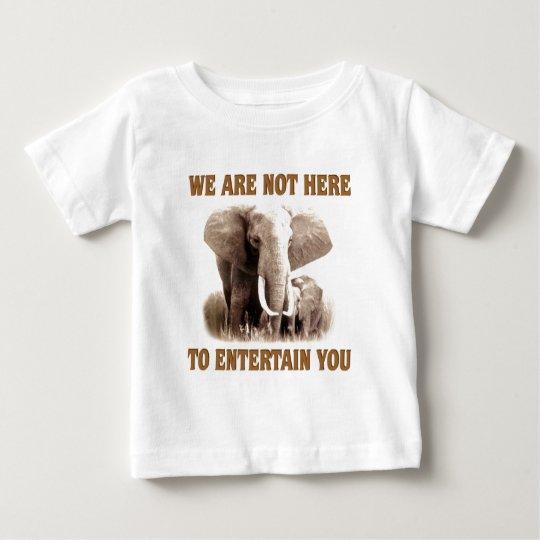 Elephants Deserve Respect Baby T-Shirt