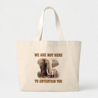 Elephants Deserve Respect Jumbo Tote Bag