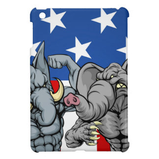 Elephants Fighting Concept Cover For The iPad Mini