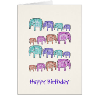 Elephants Greeting Cards