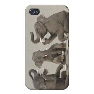 Elephants having tea party case for iPhone 4