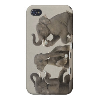 Elephants having tea party iPhone 4 covers