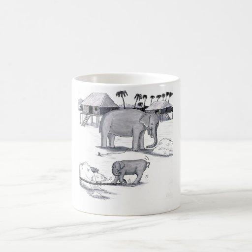 Elephants Held Captive Mugs
