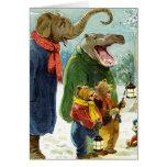 Elephants Hippopotamus & Bears Christmas Caroling