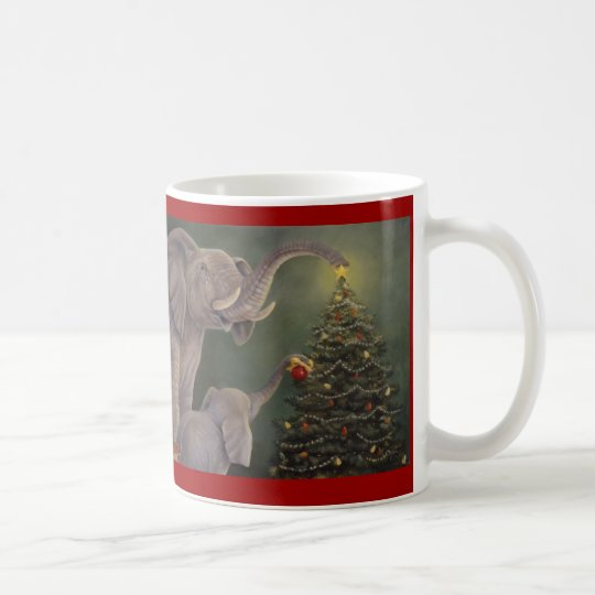 Elephants Holiday Mug