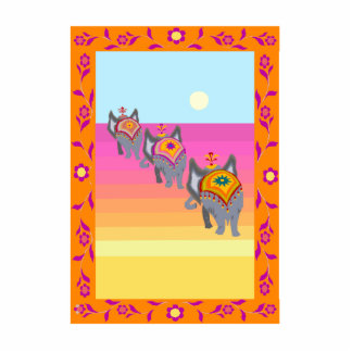 elephants in the dessert photo cutouts
