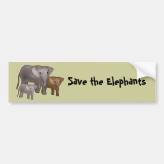 Elephants in the Wild Bumper Stickers