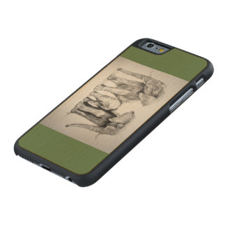 elephants  iphonecover carved maple iPhone 6 case