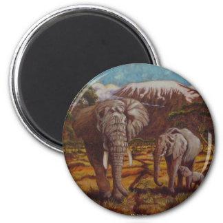 Elephants & Kilimanjaro Magnet