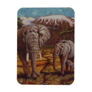 Elephants Kilimanjaro Magnet