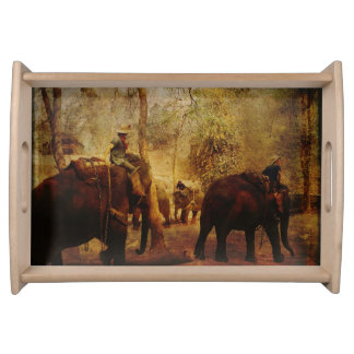 Elephants Learning Serving Tray