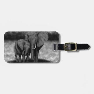 Elephants Tag For Luggage