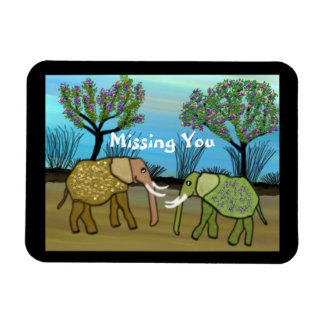 Elephants Missing You Magnet