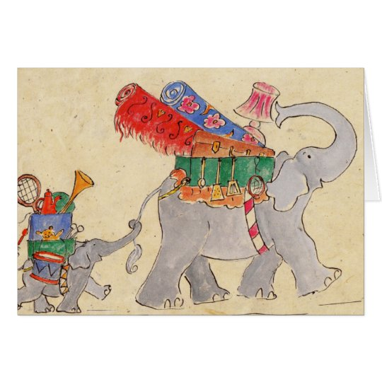 Elephants' Moving Day Card