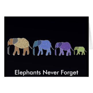 Elephants Never Forget Cards