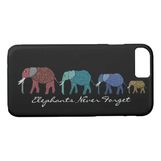 Elephants Never Forget iPhone case