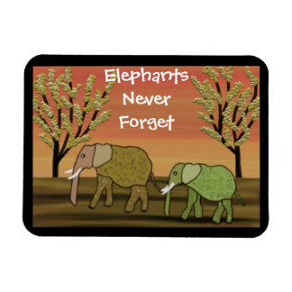 Elephants Never Forget Premium Magnets